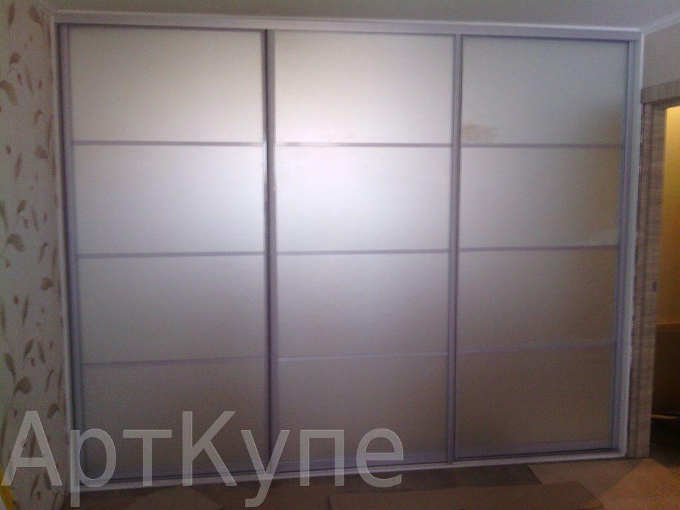 Встроенный шкаф матовое зеркало с разделителями шкафы-купе, .